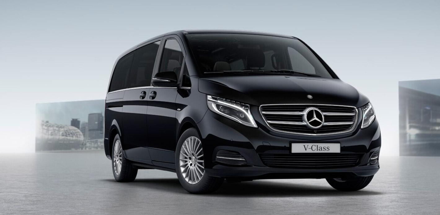 Alquiler de un Mercedes Clase V con chófer 3