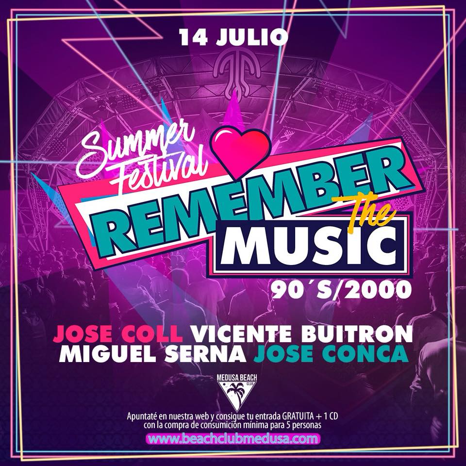 Asistir al 'Remember the Music' de Medusa Beach Club 1