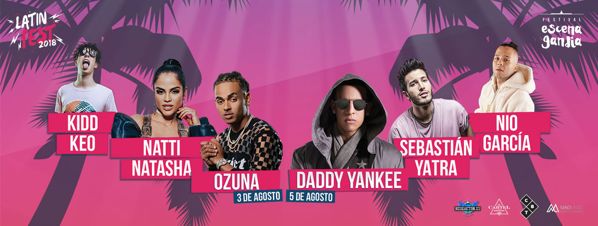 Listos para viajar hasta Gandia al Latin Fest 2018