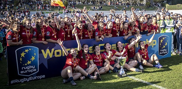 Séptimo europeo para el equipo de España de Rugby Femenino 1