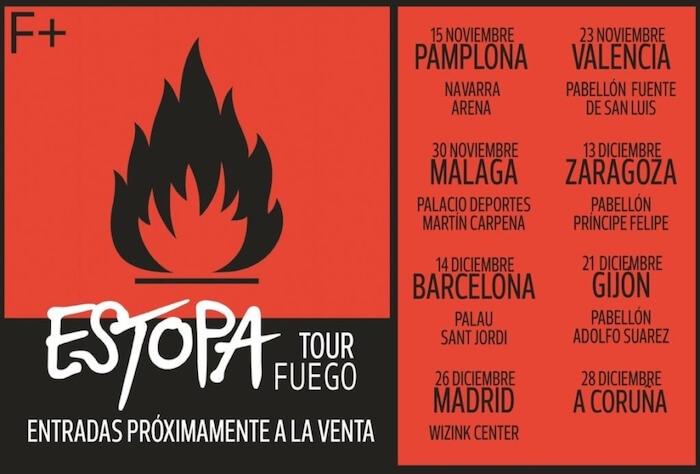 Parada de Estopa en Valencia en su gira de conciertos 3