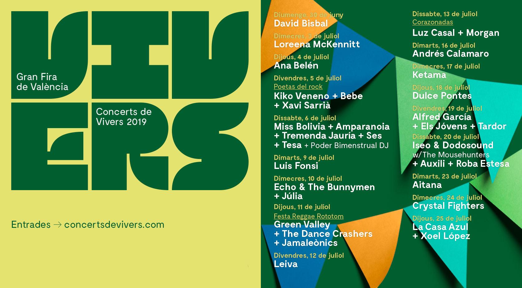 Este julio no te pierdas los conciertos de Jardines de Viveros 3